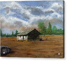Bunk House Cheyenne Wy Acrylic Print by Stuart B Yaeger