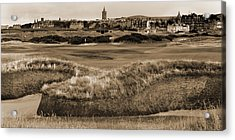 Bunker At St. Andrews Old Course Scotland Acrylic Print by Sally Ross