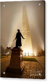Bunker Hill Monument  Acrylic Print by Denis Tangney Jr