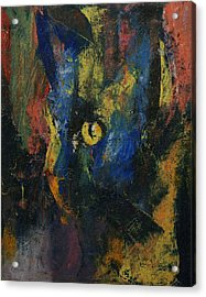 Blue Cat Acrylic Print by Michael Creese