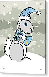 Bunny Winter Acrylic Print by Christy Beckwith