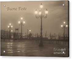 Buone Feste With Venice Lights Acrylic Print