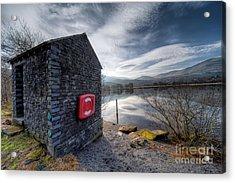 Buoy At Lake Acrylic Print by Adrian Evans