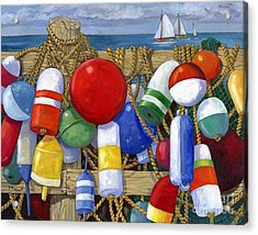 Buoy Composition Acrylic Print by Paul Brent