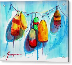 Colorful Buoys Acrylic Print