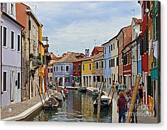 Acrylic Print featuring the photograph Burano Island by Cendrine Marrouat