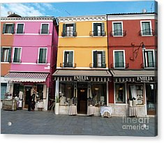 Acrylic Print featuring the painting Burano by Robin Maria Pedrero