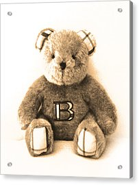 Burberry Bear Acrylic Print by Gina Dsgn