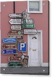 Buren Signs Acrylic Print
