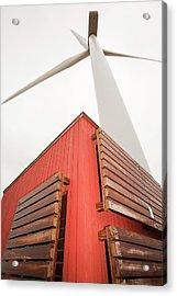 Burgar Hill Wind Farm Acrylic Print by Ashley Cooper