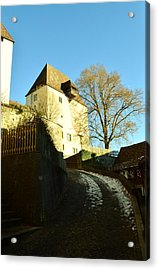 Acrylic Print featuring the photograph Burgdorf Castle In December by Felicia Tica