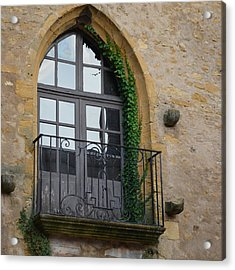 Burgundy Window Acrylic Print