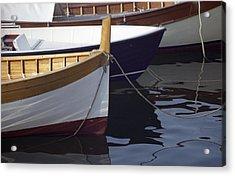 Burgundy Boat Acrylic Print
