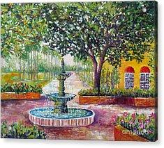 Burgundy Square Acrylic Print