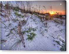 Acrylic Print featuring the digital art Buried Fences by Michael Thomas