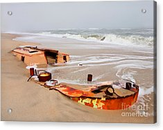 Buried Treasure On The Outer Banks II Acrylic Print by Dan Carmichael