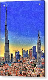 Burj Khalifa Dubai United Arab Emirates 20130426 Acrylic Print by Wingsdomain Art and Photography