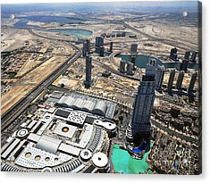 Burj Khalifa Observation Deck View - 01 Acrylic Print by Graham Taylor