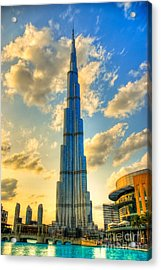 Burj Khalifa Acrylic Print by Syed Aqueel