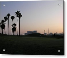 Burj -view From Golf Course Acrylic Print by Sunil Palayil