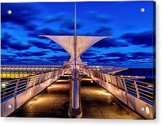 Burke Brise Soleil At Blue Hour Acrylic Print