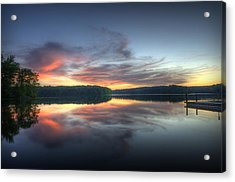 Burke Lake Reflection Acrylic Print by Michael Donahue