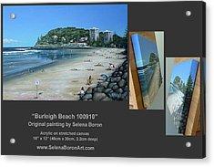 Burleigh Beach 100910 Comp Acrylic Print