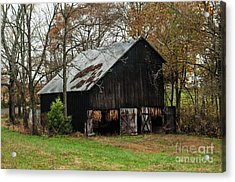 Acrylic Print featuring the photograph Burley Tobacco  Barn by Debbie Green