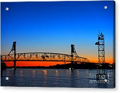 Burlington Bristol Bridge Acrylic Print by Olivier Le Queinec