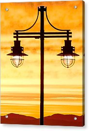 Burlington Dock Lights Acrylic Print