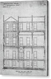 Burlington House Architectural Plans Acrylic Print by Royal Astronomical Society/science Photo Library