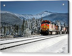 Burlington Northern Santa Fe Acrylic Print by James David Phenicie