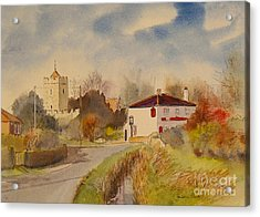Acrylic Print featuring the painting Burmarsh  Kent Uk by Beatrice Cloake
