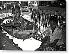 Burmese Mother And Son Acrylic Print by RicardMN Photography