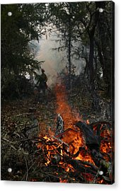 Acrylic Print featuring the photograph Burn Original by Marie Neder