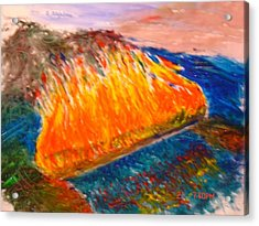 Burn The Bridges Behind You Acrylic Print