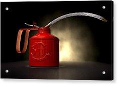 Burn The Midnight Oil Can Acrylic Print by Allan Swart
