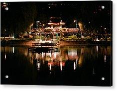 Burnham Park At Night Acrylic Print by Joel Panida
