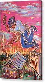 Burnin' It Up Acrylic Print by Robert Ponzio