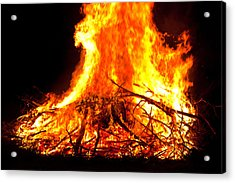 Burning Branches Acrylic Print by Claus Siebenhaar