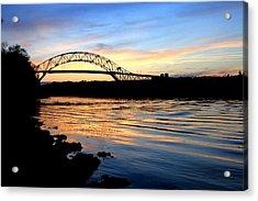Burning Bridge Acrylic Print by MPG Artworks