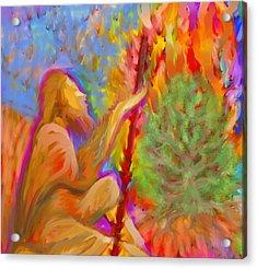 Burning Bush Of Yhwh Acrylic Print