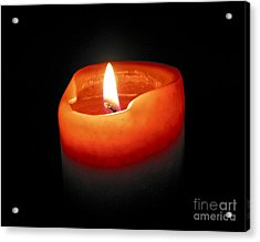 Burning Candle Acrylic Print by Elena Elisseeva