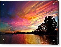 Burning Cotton Candy Flying Through The Sky Acrylic Print by Matt Molloy