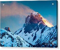 Burning Peak Acrylic Print by Inge Johnsson