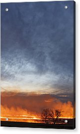 Acrylic Print featuring the photograph Burning by Scott Bean