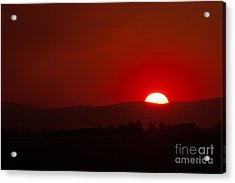 Acrylic Print featuring the photograph Burning Sky by Charles Kozierok