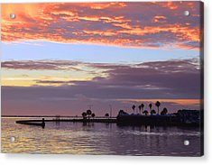 Burning Sky Acrylic Print by Leticia Latocki