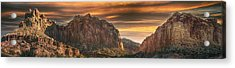 Burning Sky Acrylic Print by Phil Abrams