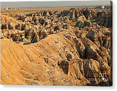 Burns Basin Overlook Badlands National Park Acrylic Print